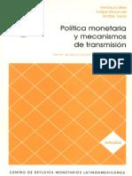 Política monetaria y mecanismos de transmisión