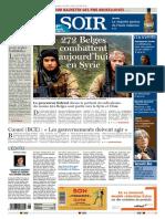 Le Soir Edition Bruxelles 12 Novembre 2015