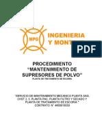 PROC-5030-MEC-PTE-20 MANTENIMIENTO SUPRESORES DE POLVO