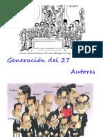 GENERACIÓN DE 27 AUTORES