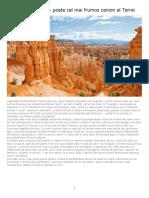 Canionul Bryce - Poate Cel Mai Frumos Canion Al Terrei