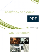 INSPECTION OF CASTING