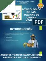 TOXICOLÓGICO DE LAS  TOXINAS DE ORIGEN VEGETAL