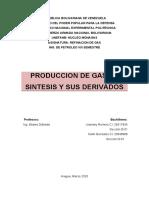 Producción de Gas de Síntesis