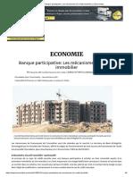 [Article] Banque participative, Mécanismes de crédit immob - L'Economiste.pdf