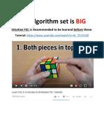 Best F2L Algorithms