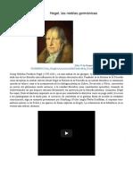 Hegel, las nieblas germánicas   µetáβasis