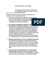 LOS PRINCIPIOS DE LA ECONOMIA