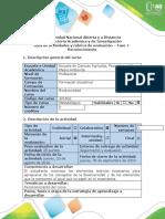 Guía de actividades y rúbrica de evaluación - Fase 1- Reconomiento