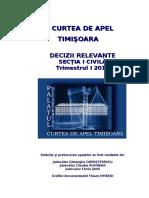 CURTEA DE APEL TIMIŞOARA -Decizii relevante 2013