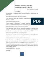 INSTITUCIONES    FAMILIA  ESCUELA ESTADO 2