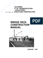 Bridge Deck Construction Manual