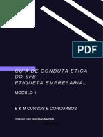 APOSTILA - GUIA DE CONDUTA ÉTICA e ETIQUETA PROFISSIONAL - MÓDULO 1