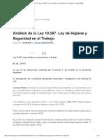 Análisis de la Ley 19.587. Ley de Higiene y Seguridad en el Trabajo - Safety Blog®