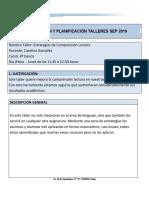 Justificación y Planificación Taller SEP 2019 - Comprensión lectora 4°.doc