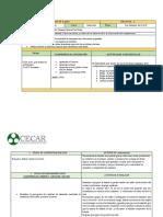 PLAN DE CLASES  PRÁCTICA II 2020 -1
