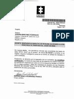 Respuesta de la Fiscalía General de Colombia a Adriana Martínez Rodríguez