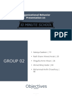 Organizational Behavior at 10 Minute School