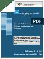 Entidades en LIquidacionNIIF CTCP