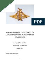 manual para participantes en la terapia de grupo de aceptacion y compromiso