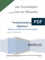 productividad por objetivos