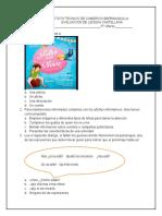 EVALUACION DE LENGUA CASTELLANA  3