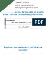 6. Termoquímica - Cálculo de coeficientes de fugacidad - Parte I-2019-I
