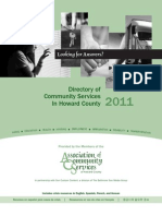 ACS Directory of Community Services in Howard County 2011
