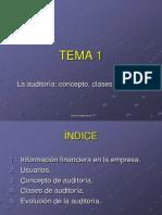 Tema 1 La auditoría. Concepto, clases y evolución