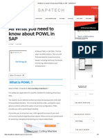 All What You Need To Know About POWL In SAP - SAP4TECH