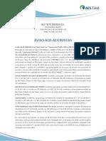 AES Tietê - Aviso aos Acionistas - candidatos CF e CA.pdf