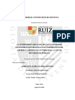 Adrianita D. Flores Montes - Tesis Licenciatura UARM - La supervisión adecuada de las actividades financieras que realizan las CAC no autorizadas a captar recursos del público - 2019