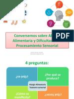 Alergia alimentaria y Dificultades de procesamiento sensorial