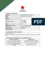 20S1 Syllabus Administración de Proyectos