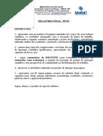 MODELO DE RELATÓRIO FINAL PIVIC