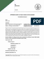 Jefferson County Update Monday, April 6, 2020