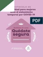 Protocolo de Seguridad Para Mujeres Ante El Aislamiento Temporal Por COVID-19.