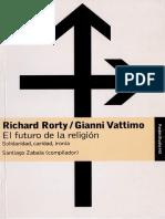 3243 Libro El Futuro de La Religión - Rorty y Vattimo