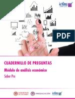 Cuadernillo de preguntas analisis economico - saber pro 2018