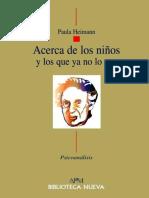 ACERCA DE LOS NIÑOS, Y LOS QUE YA NO LO SON - Paula Heimann.epub