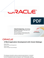 HTML5 Application Development with Oracle Weblogic