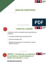 CLASE 1 - CONCEPTOS FUNDAMENTALES DE INGENIERIA VIAL