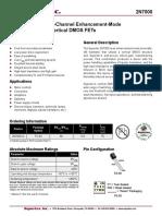 datasheet MOSFET - 2N7000 - Supertex III