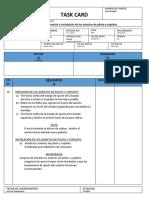 TASK CARD REMOCION-INSTALACION ASIENTOS