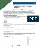 Como hacer tu propio cubrebocas (tapabocas) casero.pdf