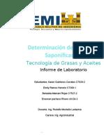 INDICE DE  SAPONIFICACION