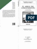 Sesión 1. Lectura 3. Maturana  y Varela. El árbol del conocimiento (1).pdf