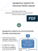 Adapting aquaponics systems for use in the American Pacific Islands