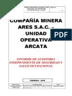 Informe Final de Auditoria Independiente SSO - UM ARCATA - Feb 2020l