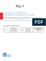 Notice No.1 Rules for the Manufacture Testing and Certification of Materials July 2